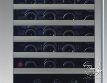 XOU24WGSL 24' Single Zone Wine Cooler with 54 Bottle Capacity Telescoping Wire Racks Tri-Color LED Lighting and Low-E Glass Door in Stainless