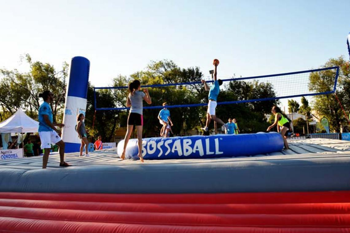 Bossaball Sport is all in one combination of volleyball, football, and gymnastics