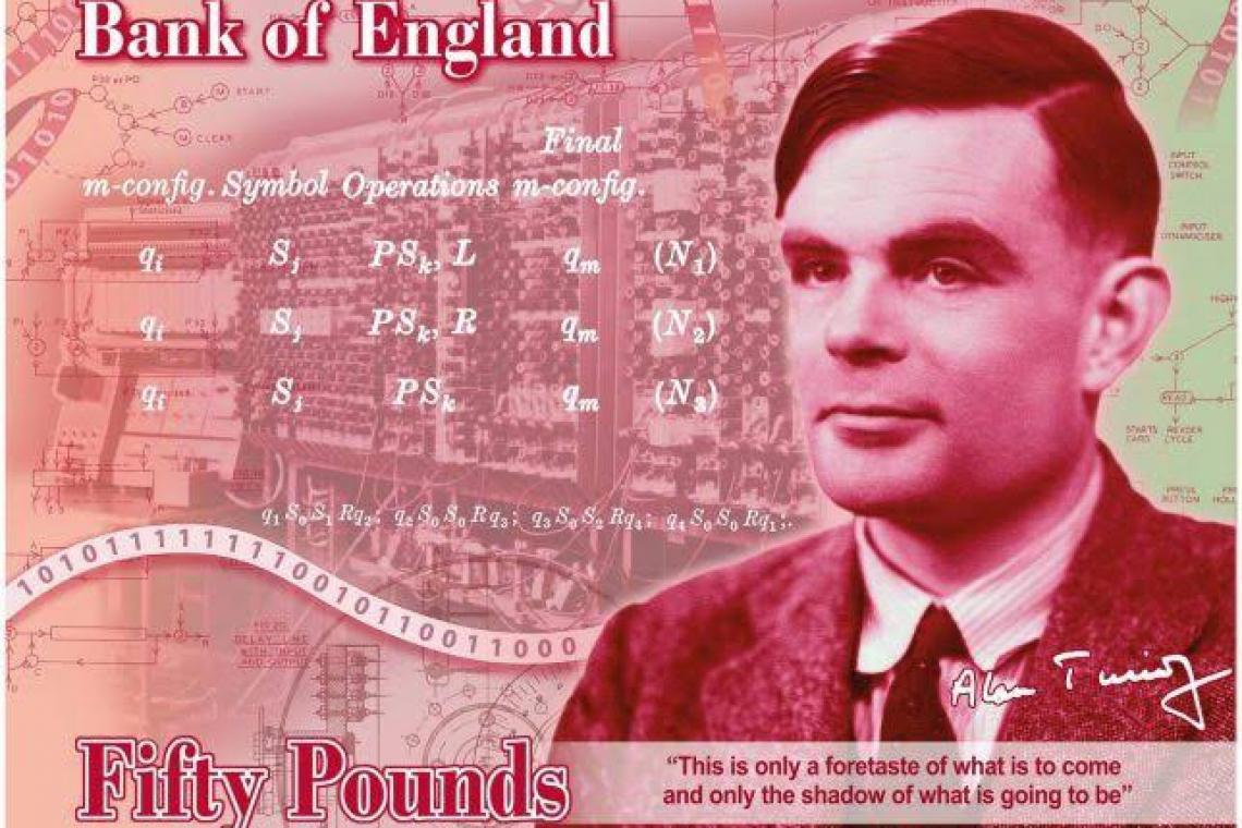 The binary code on Alan Turing's new £50 note has a secret hidden inside it