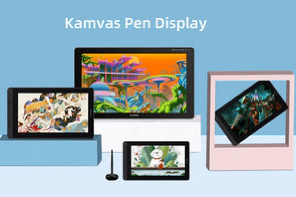 Pen Displays - Huion Kamvas series introduces screens 11,6 and 15,6 in.