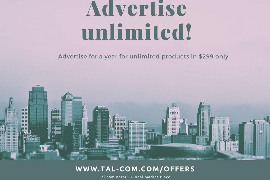 Advertise unlimited for a year in $299 only