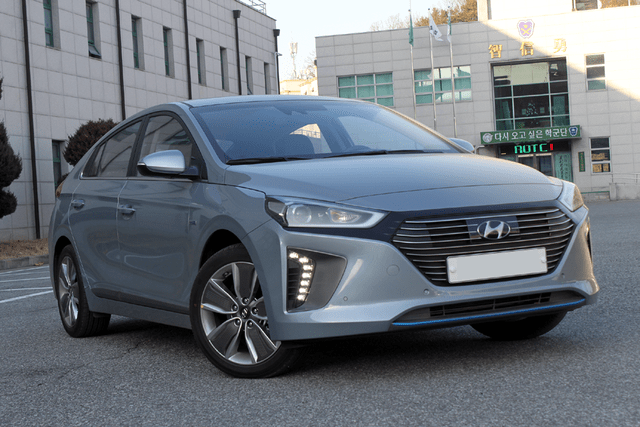 Hyundai ioniq front side view