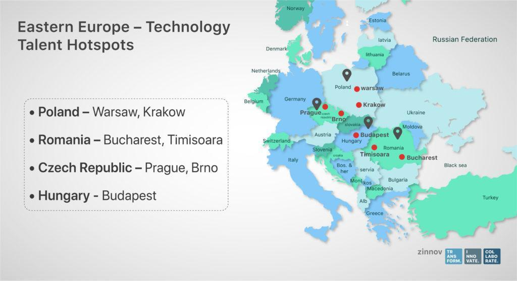Ukraine, Poland, Belarus, and Romania are Emerging as Global Tech Talent Hubs